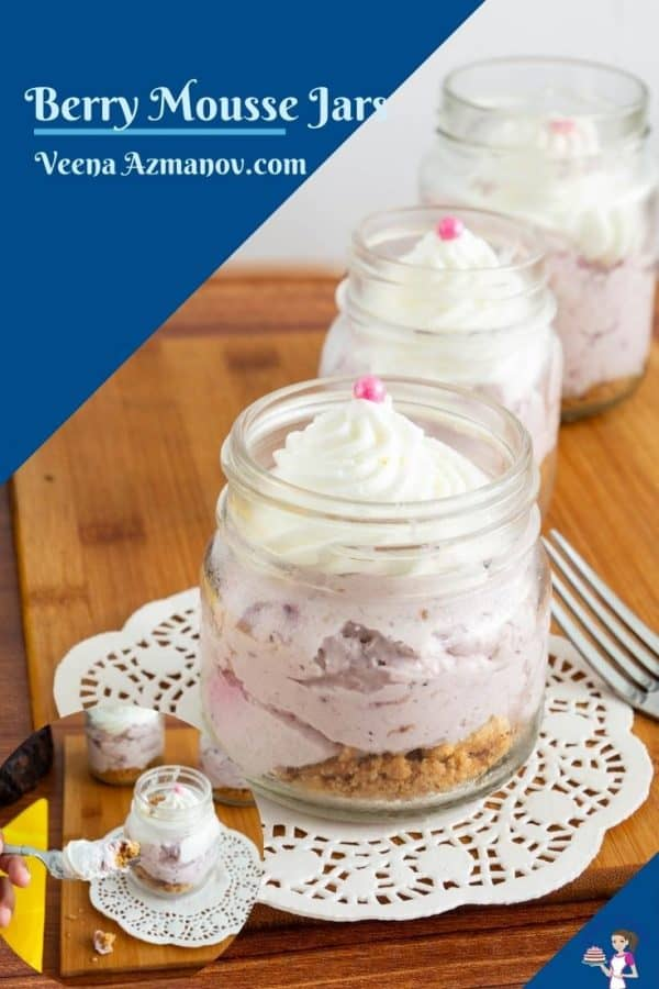 Pinterest image for mousse jars