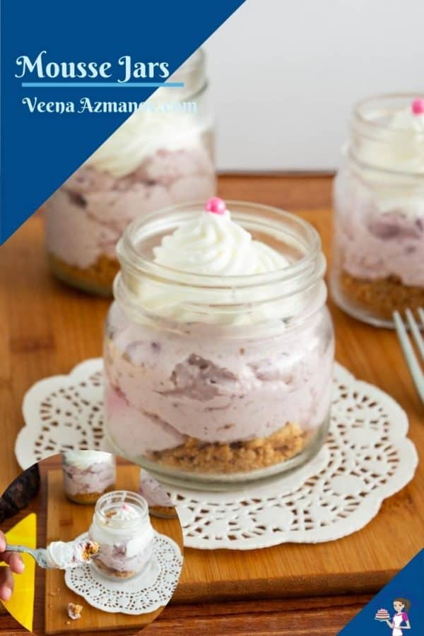 Pinterest image for jar with mousse