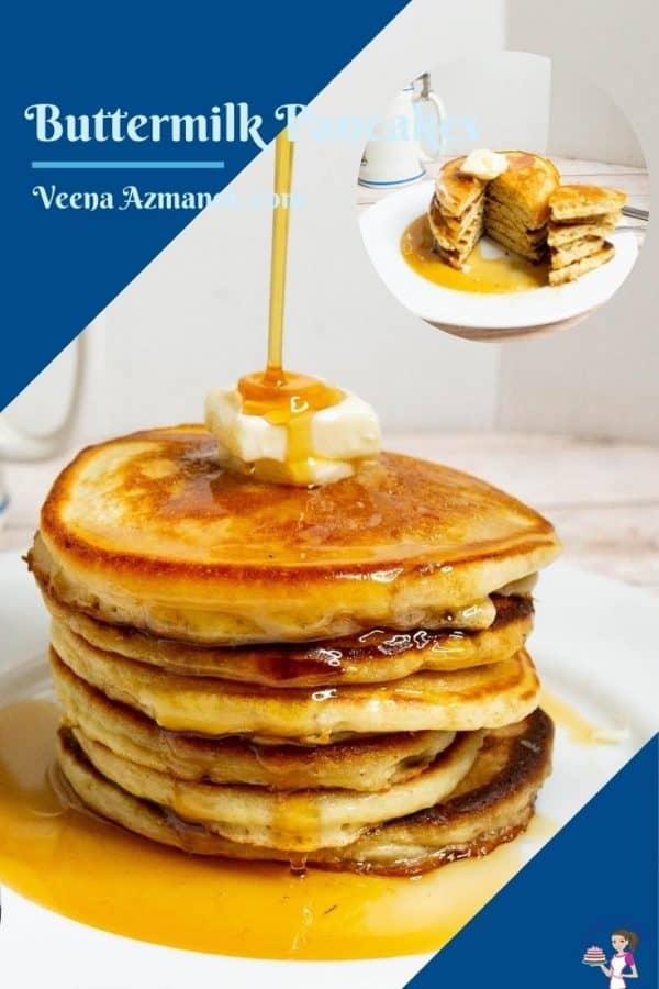 Pinterest image for pancakes