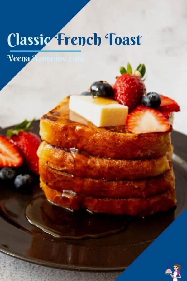 Pinterest image for French toast