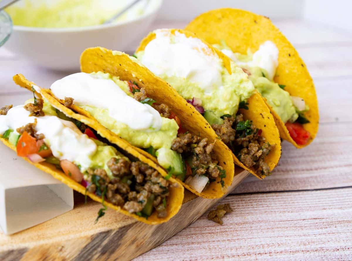 Crispy Tacos with Ground Beef