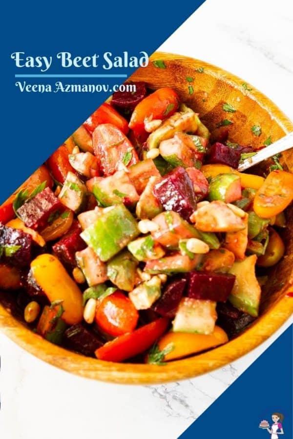 Pinterest image for beet salad