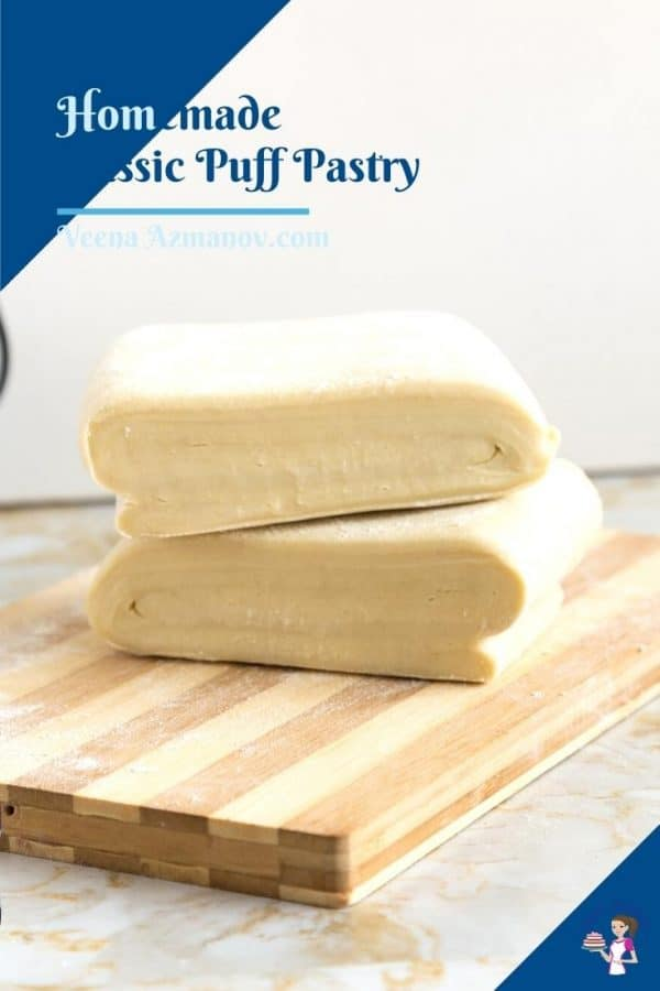 Pinterest image for puff pastry from scratch.