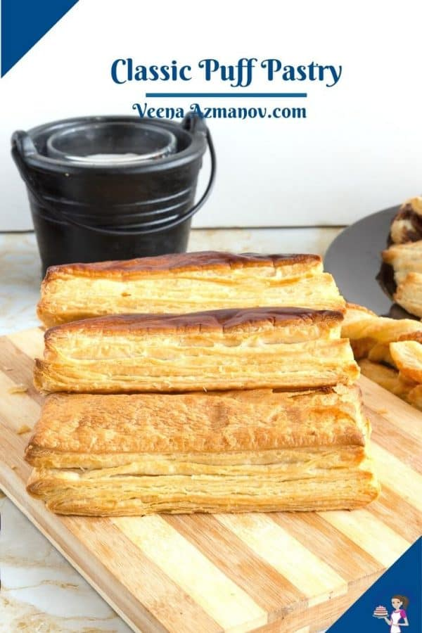 Pinterest image for using puff pastry.
