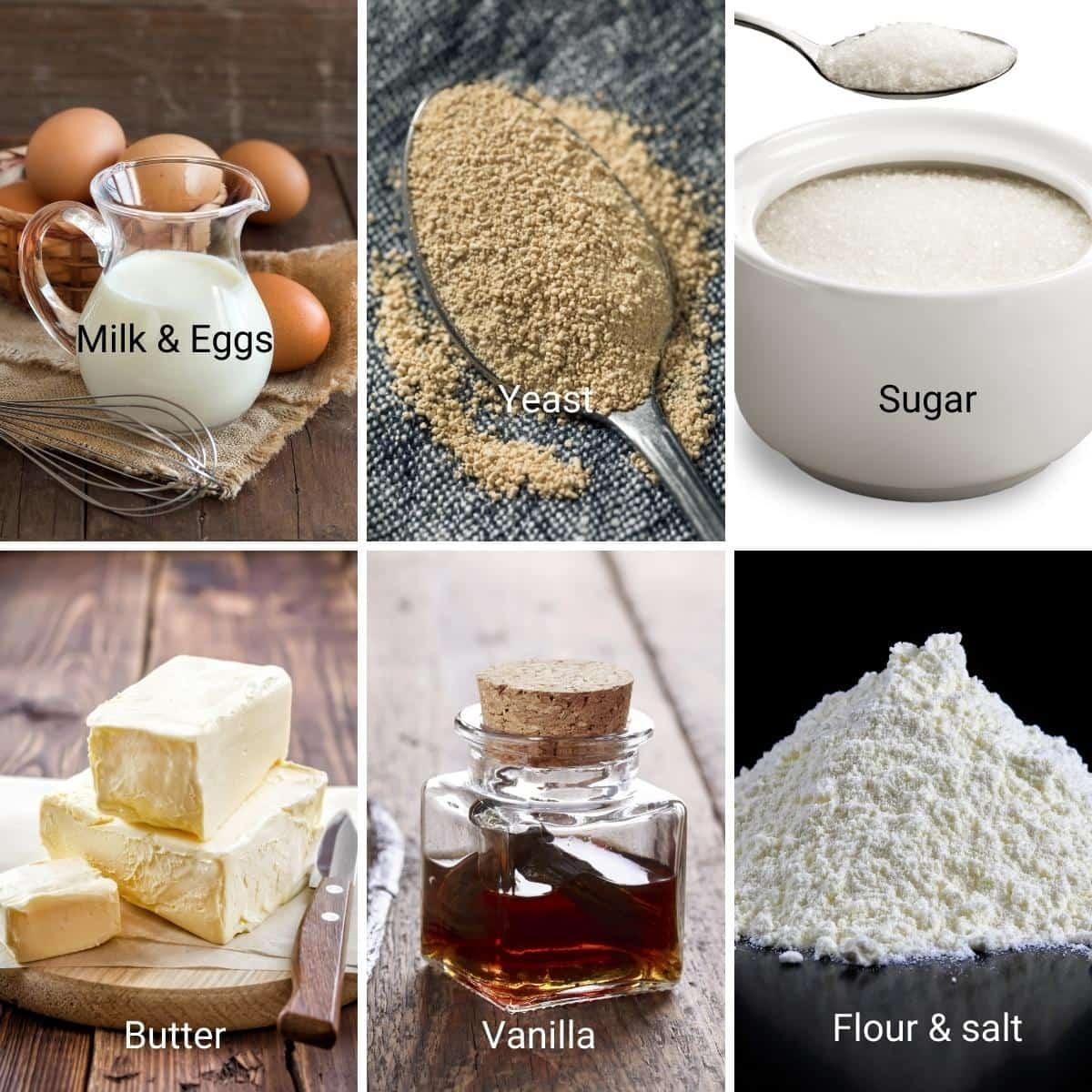 Ingredients Shot Danish Pastry Dough.