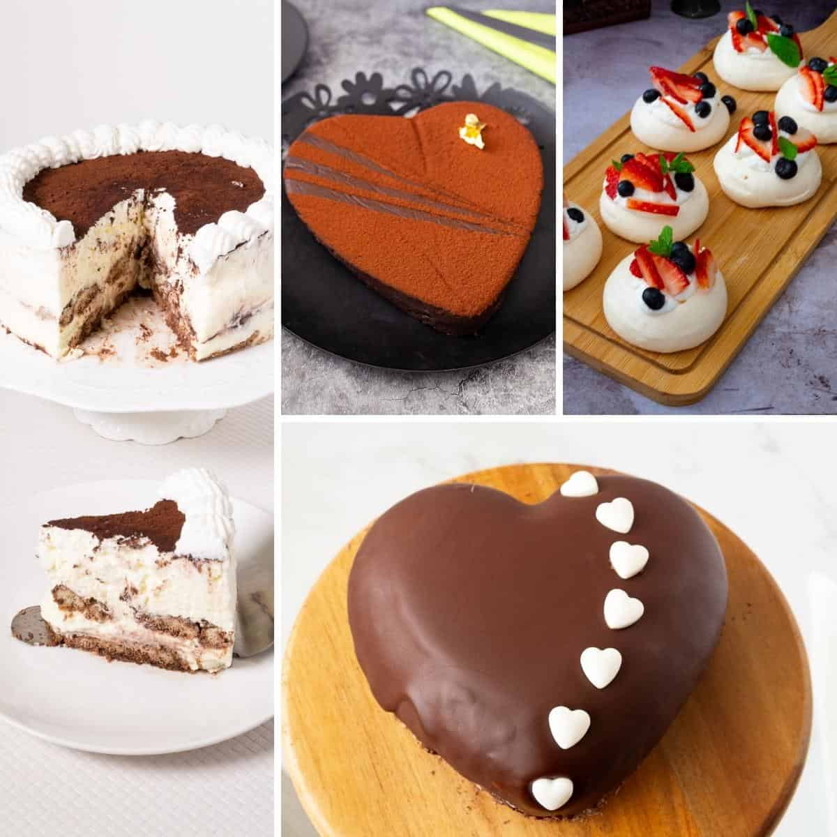 Collage of Valentines Day Desserts