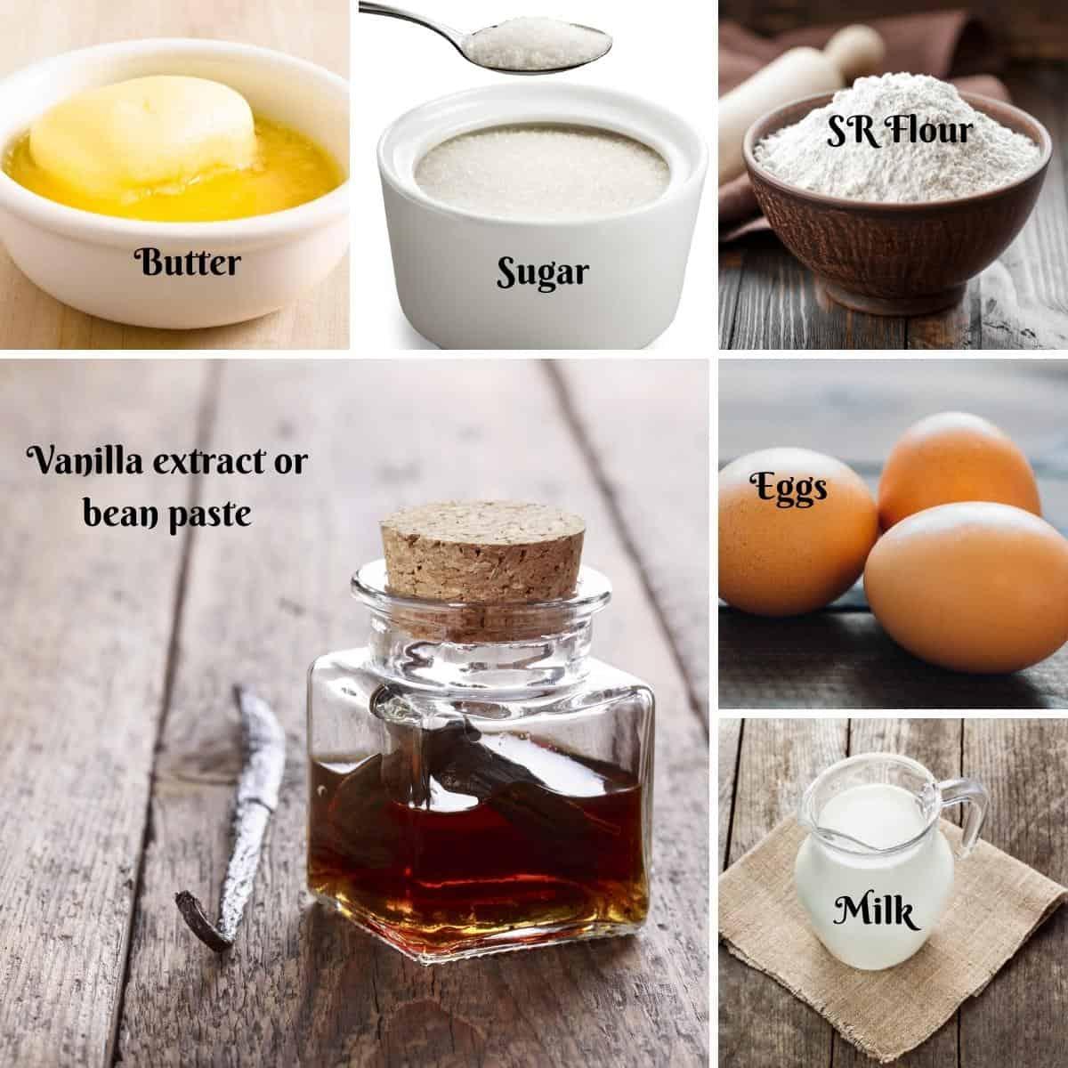 Ingredients Shot for Mug Cake.