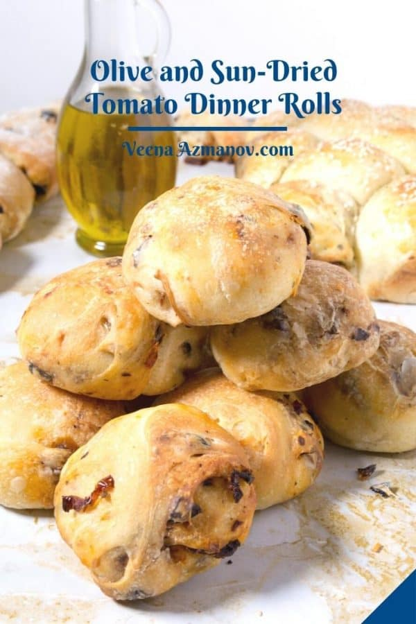 Pinterest image for olive rolls.