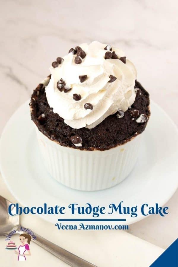 Pinterest image for chocolate mug cake.