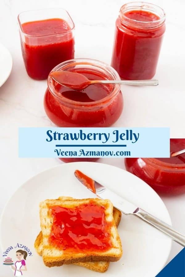 Pinterest image for homemade jelly with pectin