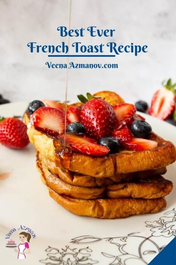 Pinterest image for French Toast with Brioche Bread.