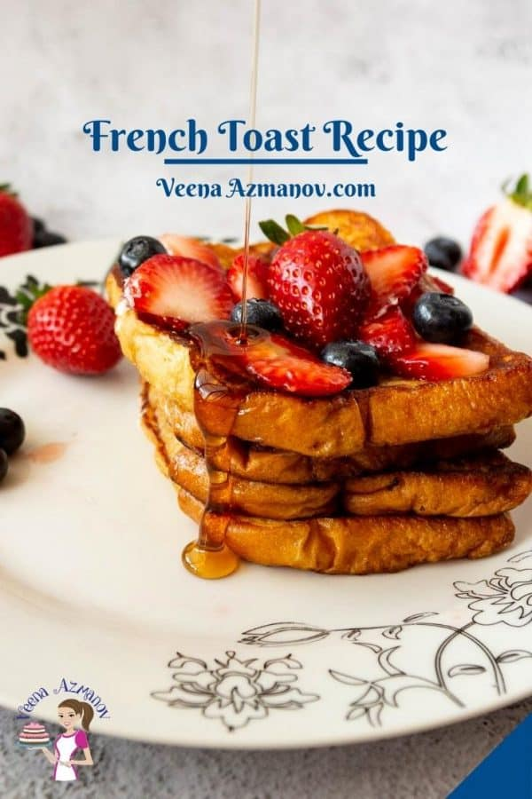 Pinterest image for Brioche French Toast.