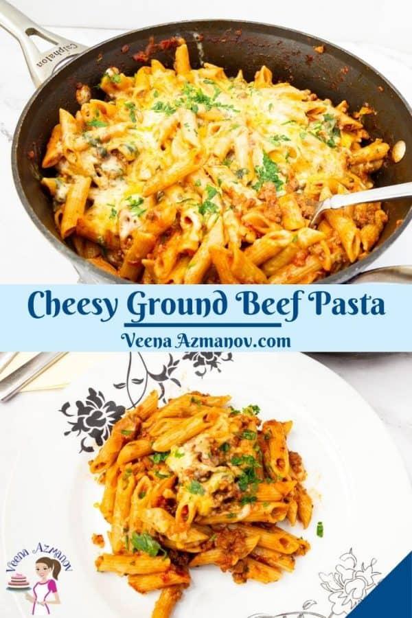 Pinterest image for casserole cheeseburger.