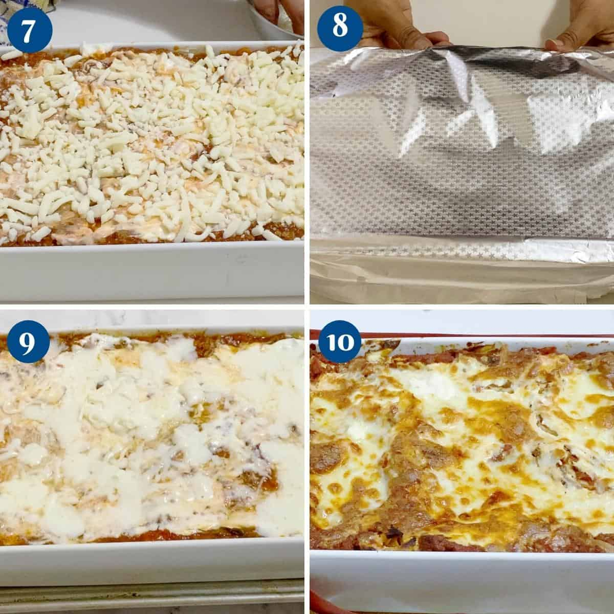Progress pictures how long to bake lasagna.
