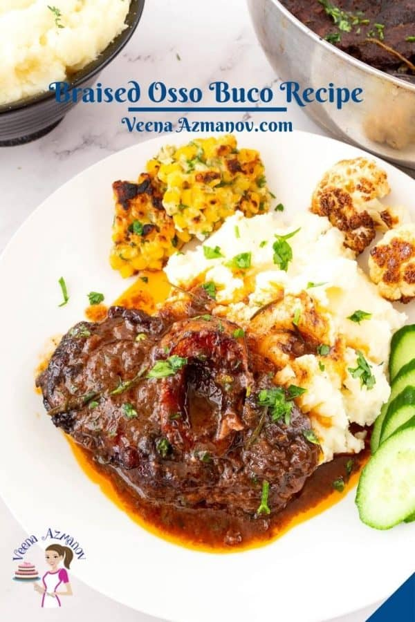 Pinterest image for Slow Cooked Osso Buco Recipe.