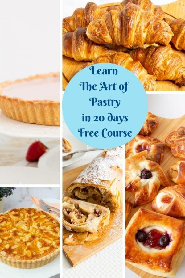 Pinterest image for pastry course in 20 days.