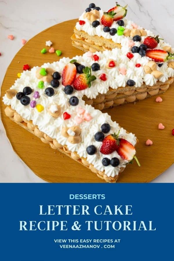 Pinterest image for alphabet cake.