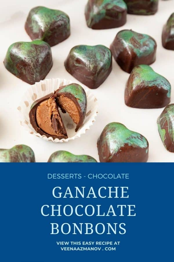 Pinterest image for chocolate bonbons.