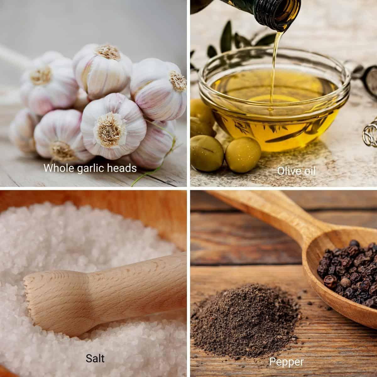 Ingredients for roasting garlic.