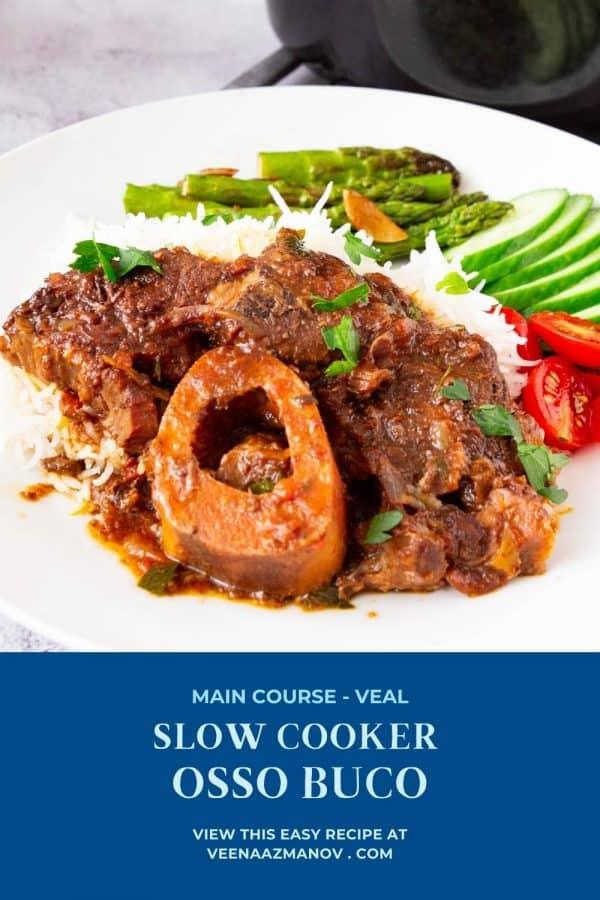 Pinterest image for shanks in slow cooker.
