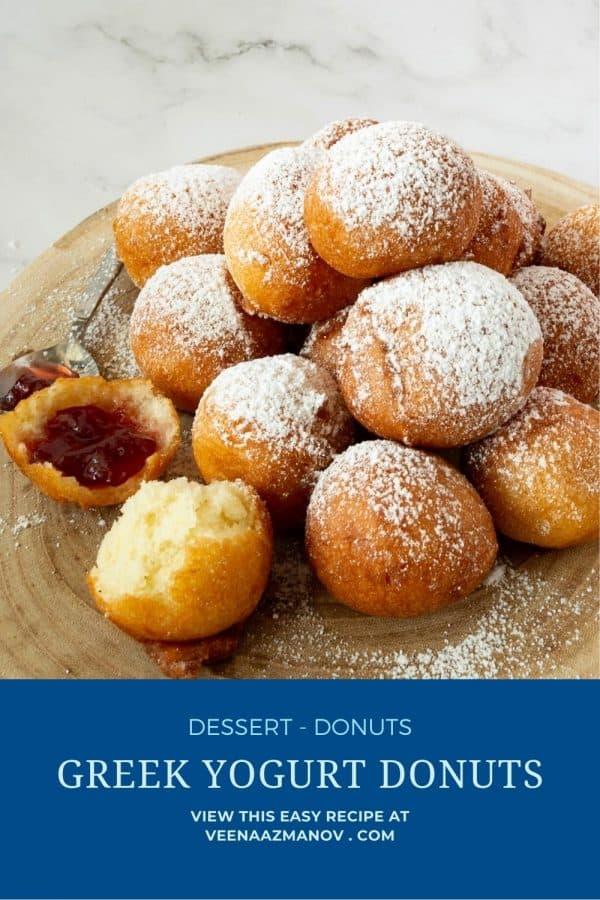 Pinterest image for Donuts with Greek Yogurt.