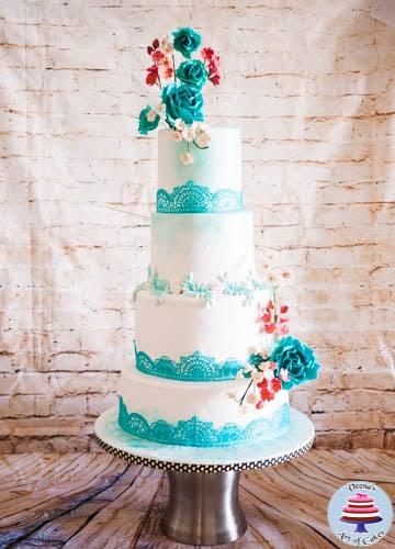 Turquoise Lace Wedding (7)