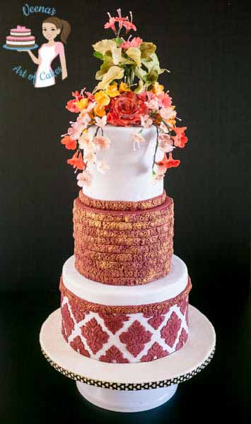 Burgundy Damask Wedding (6)