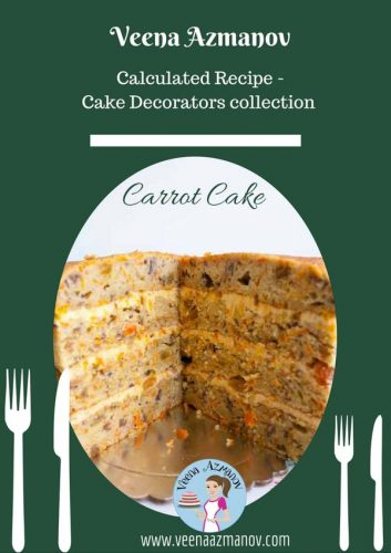 This Moist Carrot Cake is a moist and delicious recipe almost melts in your mouth. You can serve it with traditional Cream cheese frosting or Swiss Meringue Buttercream