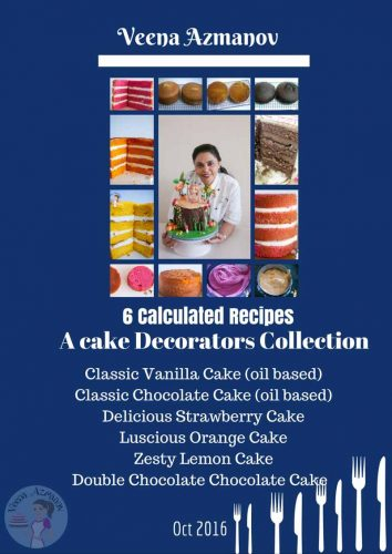 Calculated recipe collection I is a collection of my top 6 calculated recipes designed especially for cake decorators. Each recipe has 14 different tiers calculated so you don't have to spend your valuable time calculating how much batter you need.